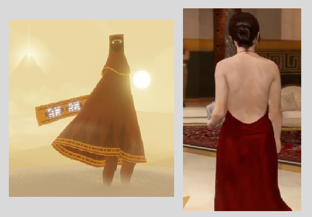 The traveler from Journey and Jodie from Beyond : Two souls.